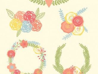 fiori, ghirlande – flowers, garlands