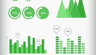 infografica verde – green infographic