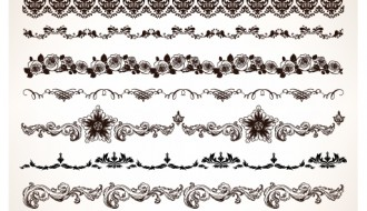10 bordi –  set of vintage design borders