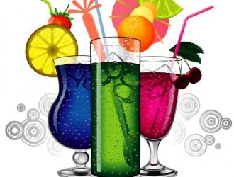 3 bicchieri succhi di frutta – fruit juice with glass cup