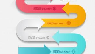infografica frecce – infographics arrows