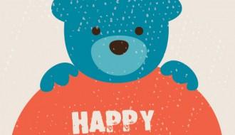 buon compleanno orso – bear happy birthday card