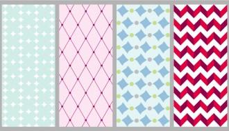 4 pattern azzurri rosa – blue pink pattern
