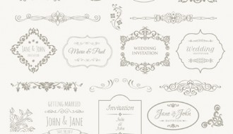 cornici, decorazioni matrimonio – wedding frames, badges, ornaments