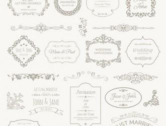 cornici, decorazioni matrimonio – wedding frames, badges, ornaments