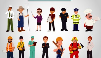 14 professioni e mestieri – characters professions and occupations