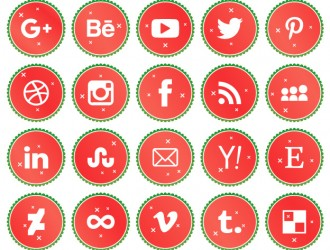 20 icone natalizie social media – Christmas social media icons