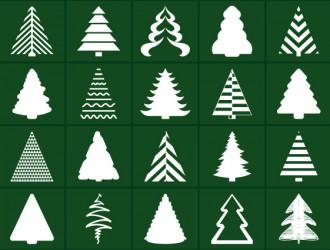 20 sagome alberi Natale – Christmas trees_01
