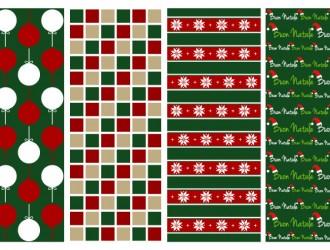 4 pattern Natale – Christmas patterns