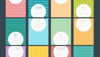 calendario 2016 con pattern