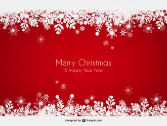 sfondo rosso Natale fiocchi di neve – red Christmas background snowflakes