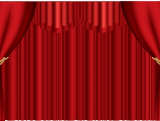 sipario rosso – red stage curtain