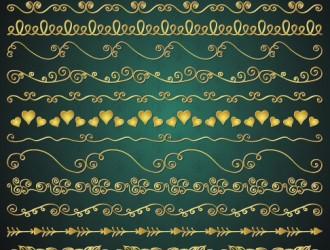 17 bordi dorati romantici – romantic golden borders