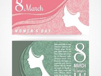 2 banner festa donna 8 marzo – women day banner set