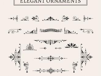 23 decorazioni eleganti – elegant ornaments