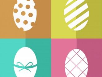 4 uova di Pasqua – colours silhouette  Easter eggs