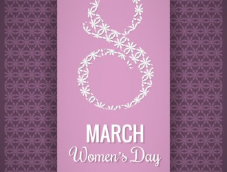 8 marzo viola – Happy Women day purple background
