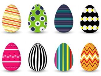 8 uova di Pasqua  decorate – 8 Easter eggs