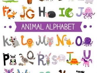 alfabeto animali – cartoon animal alphabets