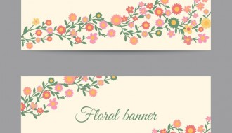 2 banner fiori – floral banners