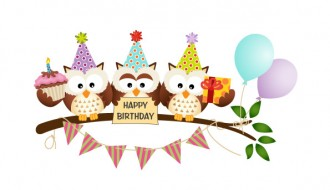gufi compleanno – owls happy birthday