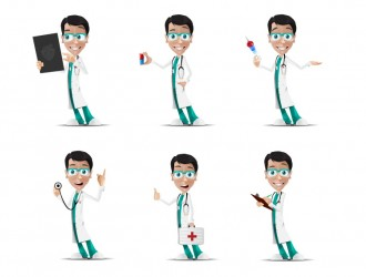 6 pose dottore – doctor