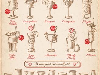 bicchieri e cocktails – classic cocktails and glasses