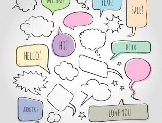 fumetti – doodle comic speech bubbles