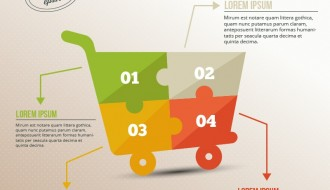 infografica carrello spesa – shopping infographic