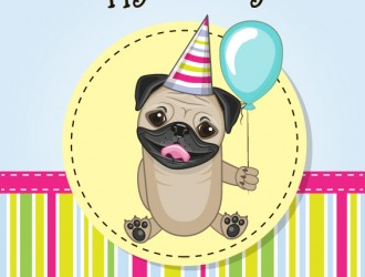 compleanno cane – happy birthday greeting card dog