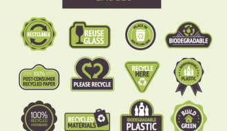 12 etichette riciclo – recycle labels
