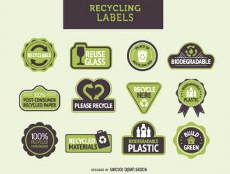12 etichette riciclo – recycle labels