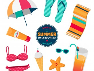 oggetti mare estate – summer sea elements