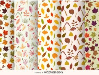 5 pattern foglie autunno – autumn pattern
