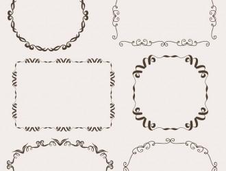 6 cornici – vintage ornamental frames