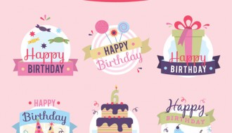 6 etichette compleanno – birthday badges