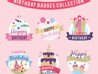 6 etichette compleanno – birthday badges