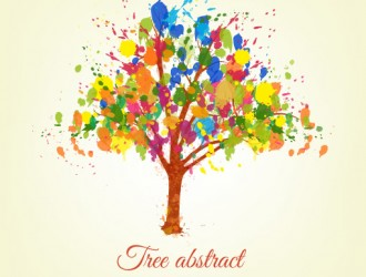 albero astratto – spatter abstract tree