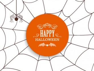 ragnatela, ragno – Happy Halloween card, spider