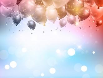 sfondo palloncini coriandoli – balloons confetti background