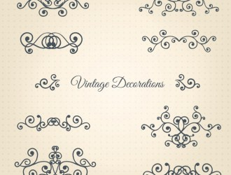 10 decorazioni – vintage decorations