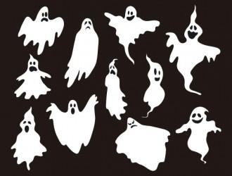 11 sagome fantasmi – Halloween ghosts