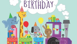 compleanno, treno, animali – birthday, train, animals