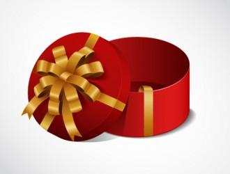 scatola regalo rossa rotonda – open red round gift box