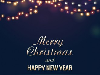 sfondo blu, luci Natale – Merry Christmas, happy new year dark background