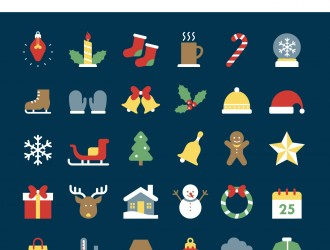 30 icone Natale – Christmas winter icons