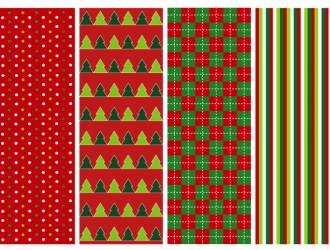 4 pattern Natale – 4 Christmas pattern