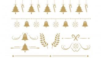 8 decorazioni Natale – Christmas ornaments