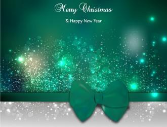 sfondo Natale verde fiocco – green Christmas background