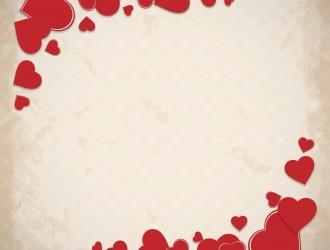 sfondo grunge cuori – grunge hearts background
